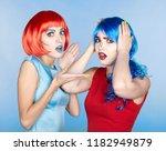 portrait of young women in... | Shutterstock . vector #1182949879