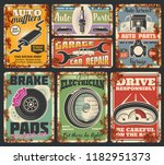 garage or car repair service... | Shutterstock .eps vector #1182951373
