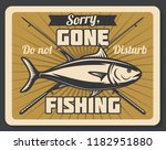 gone fishing retro banner with... | Shutterstock .eps vector #1182951880