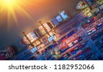 logistics and transportation of ... | Shutterstock . vector #1182952066