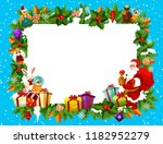 christmas frame with blank... | Shutterstock .eps vector #1182952279