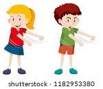 boy and girl floss dance... | Shutterstock .eps vector #1182953380