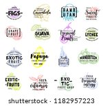 exotic hand drawn lettering... | Shutterstock .eps vector #1182957223