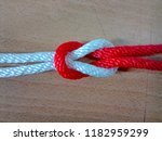 reef knot or square knot   Shutterstock . vector #1182959299
