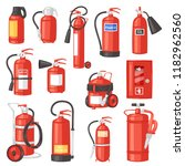 fire extinguisher vector fire... | Shutterstock .eps vector #1182962560