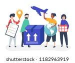 character illustration of... | Shutterstock .eps vector #1182963919