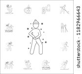 a man makes a snowball icon....   Shutterstock .eps vector #1182966643