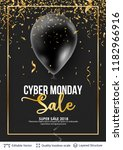 cyber monday sale background... | Shutterstock .eps vector #1182966916
