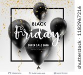 black friday sale backgrond.... | Shutterstock .eps vector #1182967216