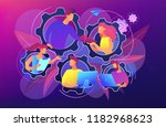 dedicated team it concept... | Shutterstock .eps vector #1182968623