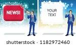 breaking news concept.... | Shutterstock .eps vector #1182972460