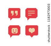 like  follower icon. pixel art. ... | Shutterstock .eps vector #1182973003