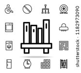 bookshelf icon. web icons... | Shutterstock .eps vector #1182973090