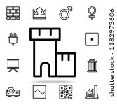 fortress icon. web icons...   Shutterstock .eps vector #1182973606