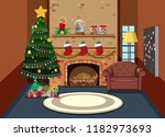 interior of living room on... | Shutterstock .eps vector #1182973693