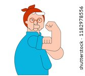 we can do it old woman symbol... | Shutterstock .eps vector #1182978556
