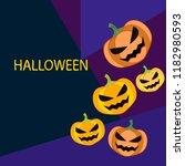 halloween pumpkin vector...   Shutterstock .eps vector #1182980593