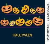 halloween pumpkin vector...   Shutterstock .eps vector #1182980626