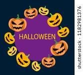 halloween pumpkin vector... | Shutterstock .eps vector #1182981376