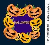 halloween pumpkin vector... | Shutterstock .eps vector #1182981379