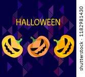 halloween pumpkin vector... | Shutterstock .eps vector #1182981430