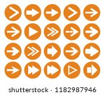 arrow sign icon set. simple... | Shutterstock .eps vector #1182987946