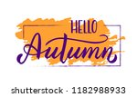 hand drawn typography lettering ... | Shutterstock .eps vector #1182988933