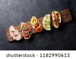 brushetta or traditional... | Shutterstock . vector #1182990613