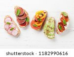 brushetta or traditional... | Shutterstock . vector #1182990616