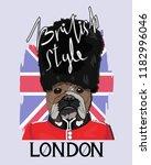 bulldog slogan. image for... | Shutterstock .eps vector #1182996046