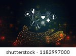 abstract science health medical ... | Shutterstock .eps vector #1182997000