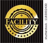 facility gold badge or emblem | Shutterstock .eps vector #1183002430