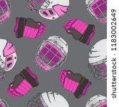 vector hockey girl seamless... | Shutterstock .eps vector #1183002649