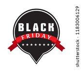 isolatted black friday label | Shutterstock .eps vector #1183006129