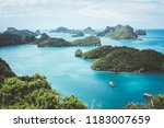 viewpoint overlooking the small ... | Shutterstock . vector #1183007659