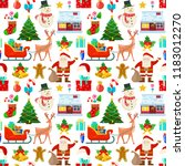 seamless pattern with christmas ...   Shutterstock .eps vector #1183012270