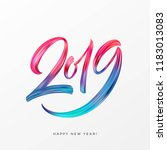 2019 new year of a colorful... | Shutterstock .eps vector #1183013083