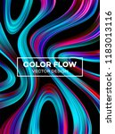 modern colorful flow poster.... | Shutterstock .eps vector #1183013116