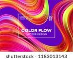 modern colorful flow poster.... | Shutterstock .eps vector #1183013143