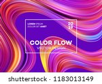 modern colorful flow poster.... | Shutterstock .eps vector #1183013149