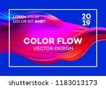 modern colorful flow poster.... | Shutterstock .eps vector #1183013173