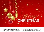 red and golden christmas... | Shutterstock .eps vector #1183013410