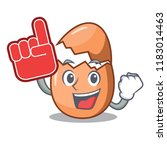 foam finger broken egg isolated ... | Shutterstock .eps vector #1183014463