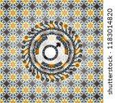 male icon inside arabic emblem... | Shutterstock .eps vector #1183014820