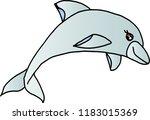 hand rawn cute fish vector | Shutterstock .eps vector #1183015369
