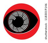 simple flat eyeball of a cyborg ... | Shutterstock .eps vector #1183019146