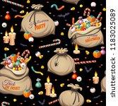 seamless pattern   bags of ...   Shutterstock .eps vector #1183025089