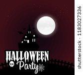 happy halloween scary night... | Shutterstock .eps vector #1183027336