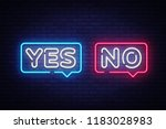 yes no neon text vector. yes no ... | Shutterstock .eps vector #1183028983