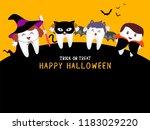 family cute cartoon tooth...   Shutterstock .eps vector #1183029220